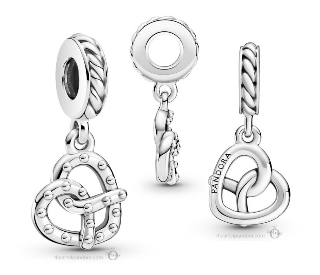 Country Exclusive Pandora Pretzel Heart Dangle Charm (799393C00) Mother's Day spring occasions 2021