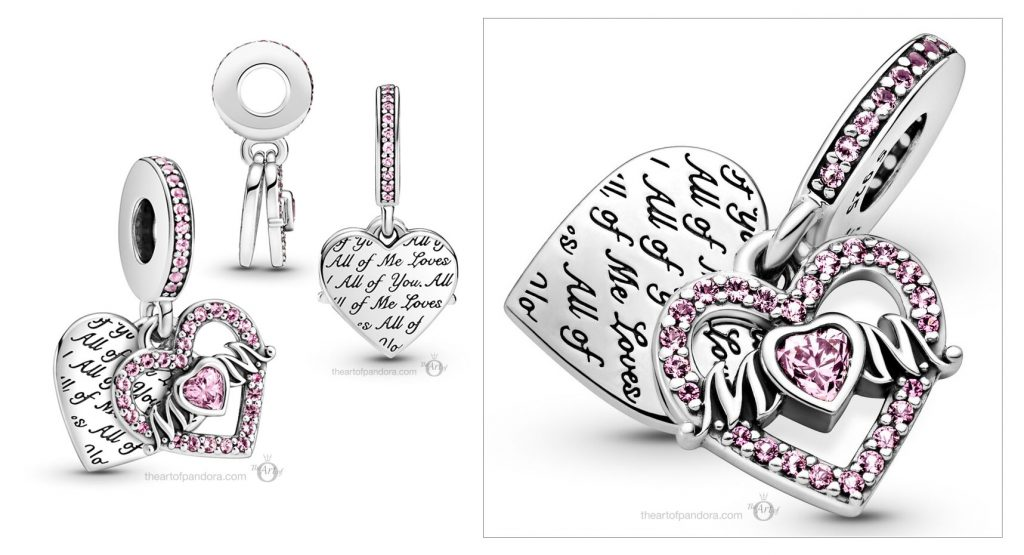 Pandora People Heart & Mom Dangle Charm (799402C01) Mother's Day spring occasions 2021