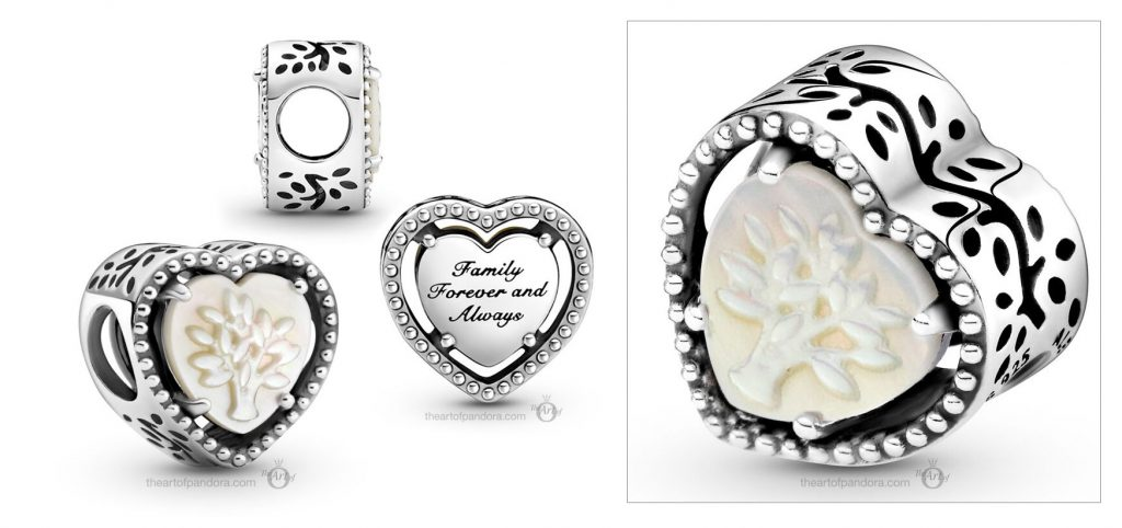 Pandora People Openwork Heart & Family Tree Charm (799413C01) Mother's Day spring occasions 2021