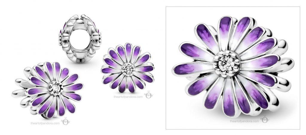 Pandora Purple Daisy Charm (798775C02) spring 2021