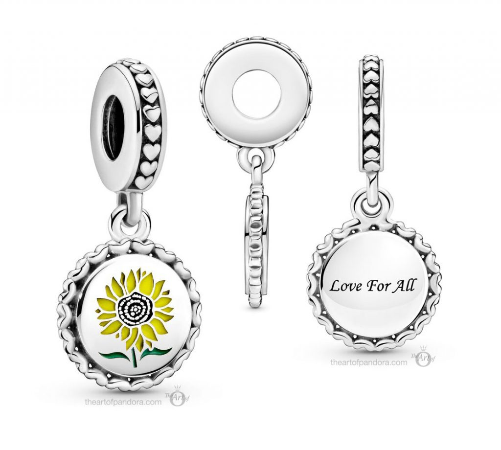 Pandora Sunflower Love For All Dangle Charm (792018C00_E030)