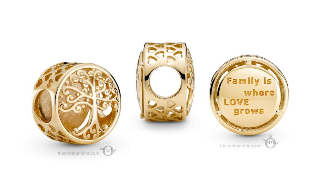 Pandora 14k Gold Openwork Family Roots Charm (759132C00) mothers day 2021 new collection 14ct