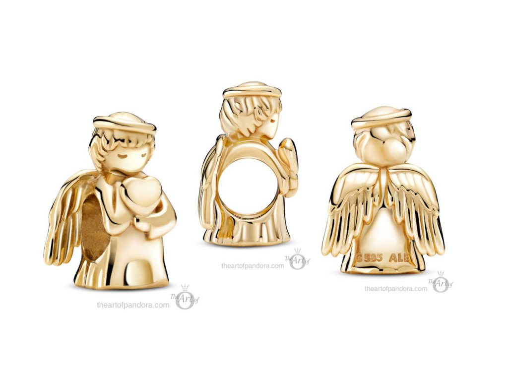 Pandora 14k Gold Angel of Love Charm (759143C00) mothers day 2021 new collection 14ct