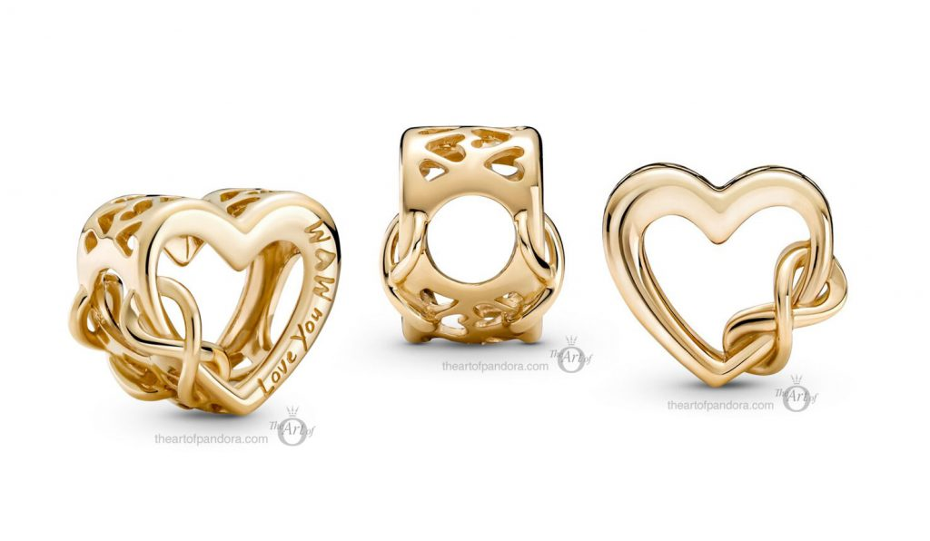 Pandora 14k Gold Love You Mum Infinity Heart Charm (759515C00) mothers day 2021 new collection 14ct