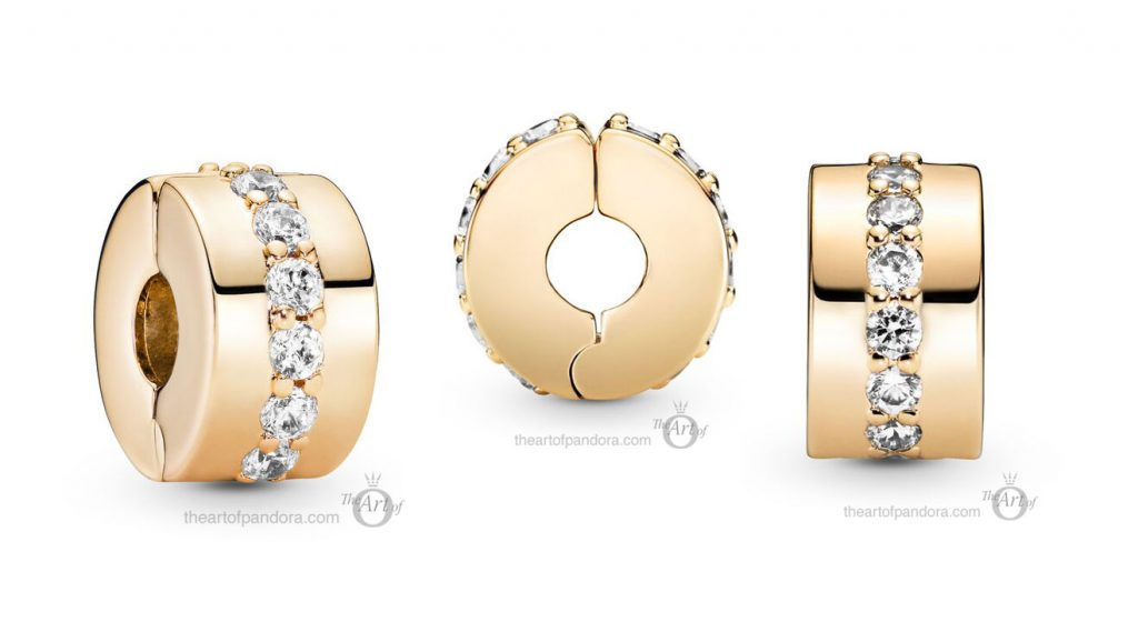 Pandora 14k Gold Sparkling Row Clip (759518C01) mothers day 2021 new collection 14ct