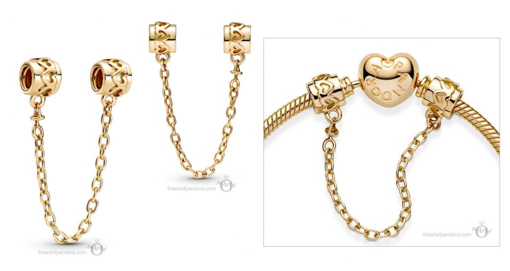 Pandora 14k Gold Hearts Safety Chain (759519C00) mothers day 2021 new collection 14ct