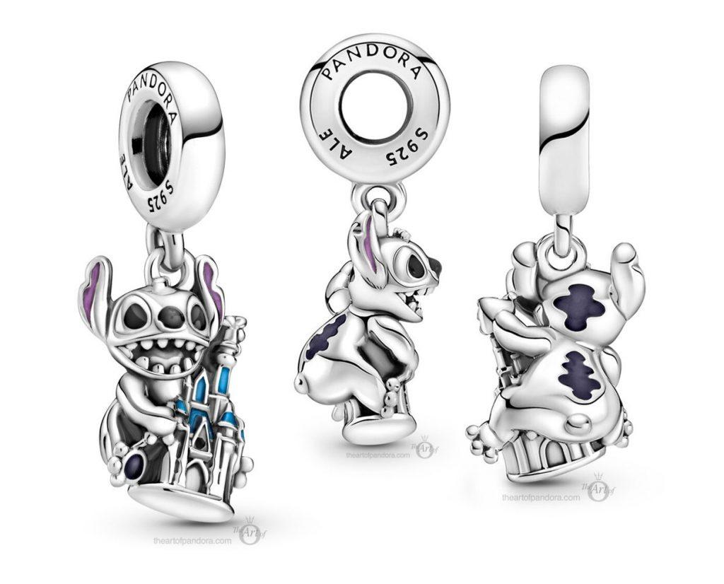 Pandora Disney Parks Stitch & Castle Dangle Charm (799437C01) Лето 2021