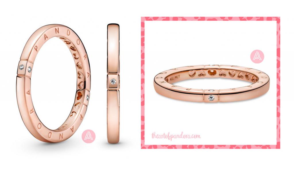Pandora Rose Logo Hearts Ring (189482C01) pre autumn 2021 signature  pre autumn 2021 signature