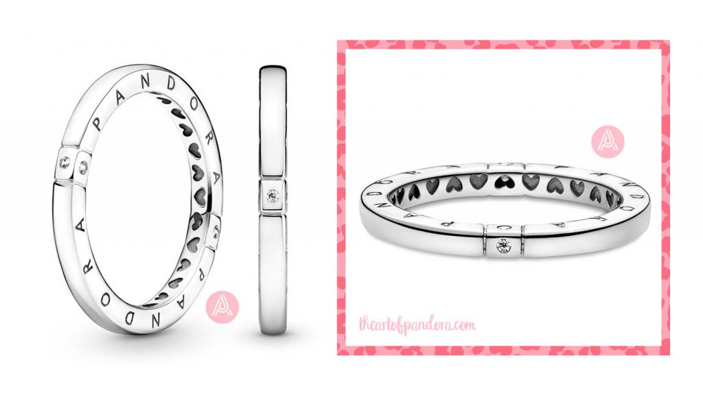 Pandora Logo & Hearts Ring 199482C01 pre autumn 2021 signature  pre autumn 2021 signature