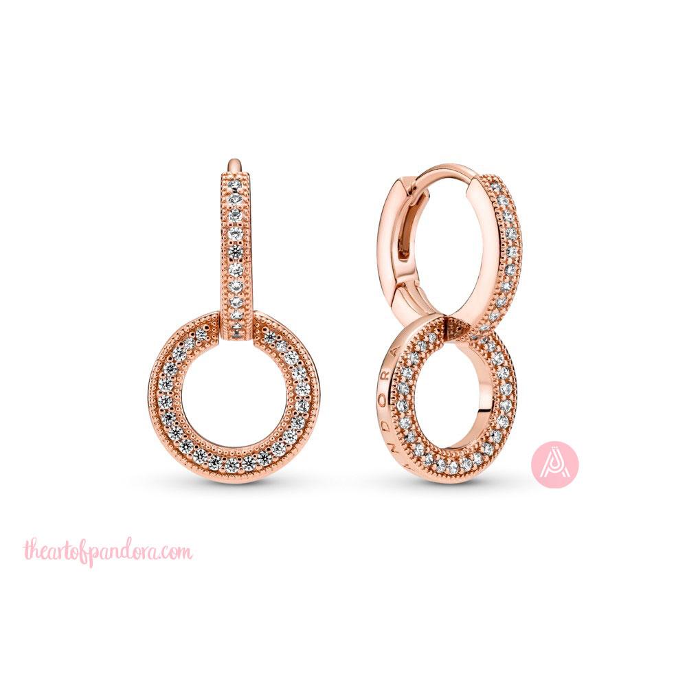 Pandora Sparkling Double Hoop Earrings (289052C01) pre autumn 2021 signature  pre autumn 2021 signature