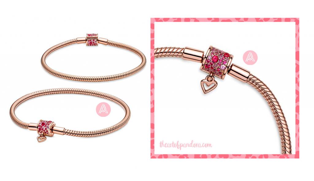 Pandora Sparkling Freehand Heart Snake Chain Bracelet (589543C01) autumn 2021