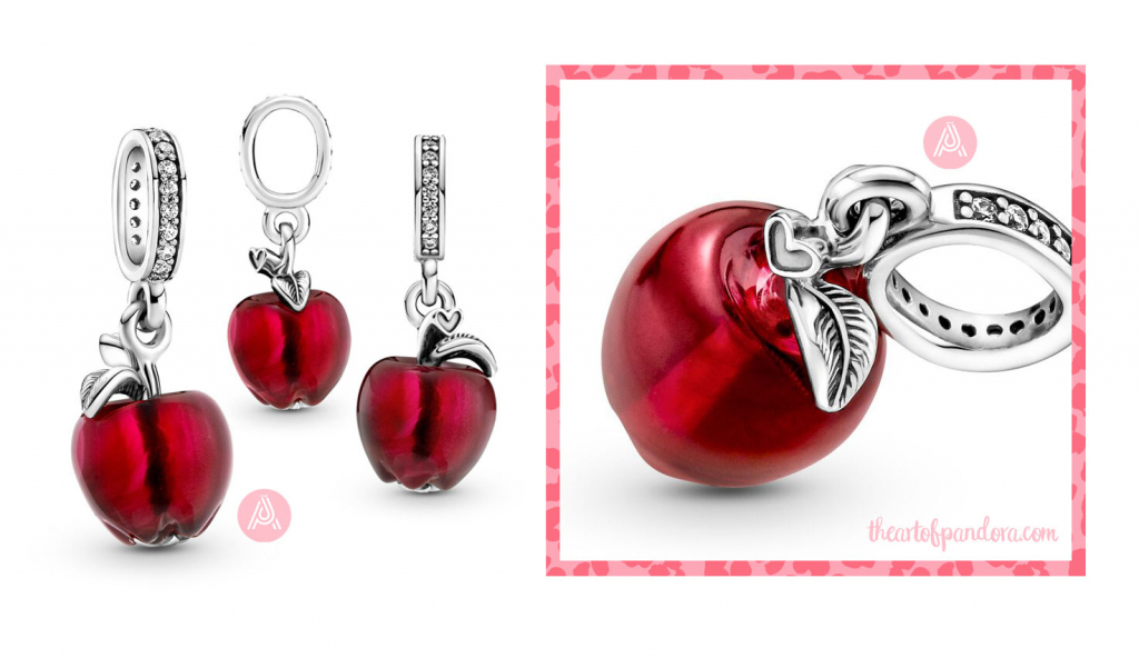 Pandora Murano Glass Red Apple Dangle Charm  (799534C01) autumn 2021