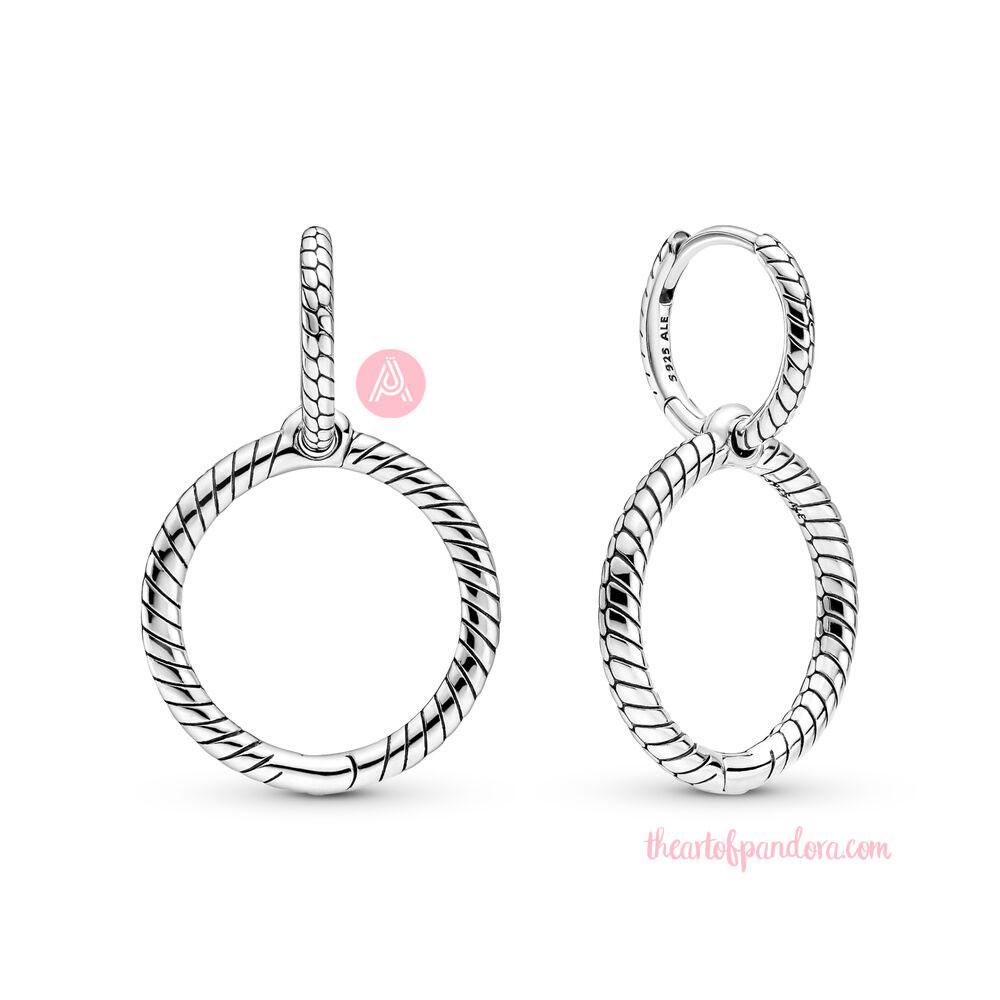299562C00 Pandora Moments Charm Double Hoop Earrings autumn 2021