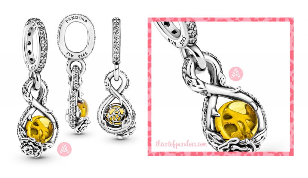 399525C01 Disney Pandora Belle Infinity and Rose Flower Pendant autumn 2021