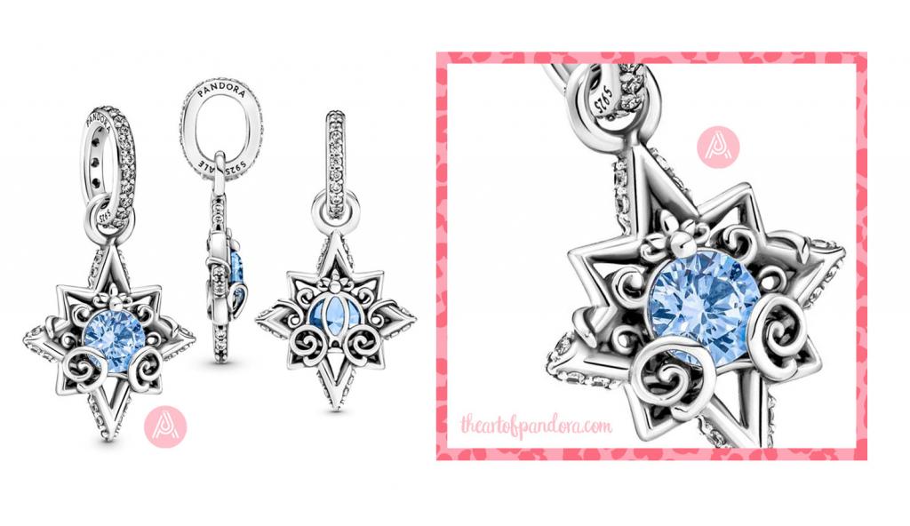 399560C01 Disney Pandora Cinderella Blue Star Pendant autumn 2021