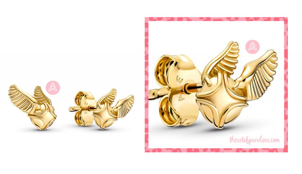 Harry Potter x Pandora Golden Snitch Stud Earrings  (260025C00)