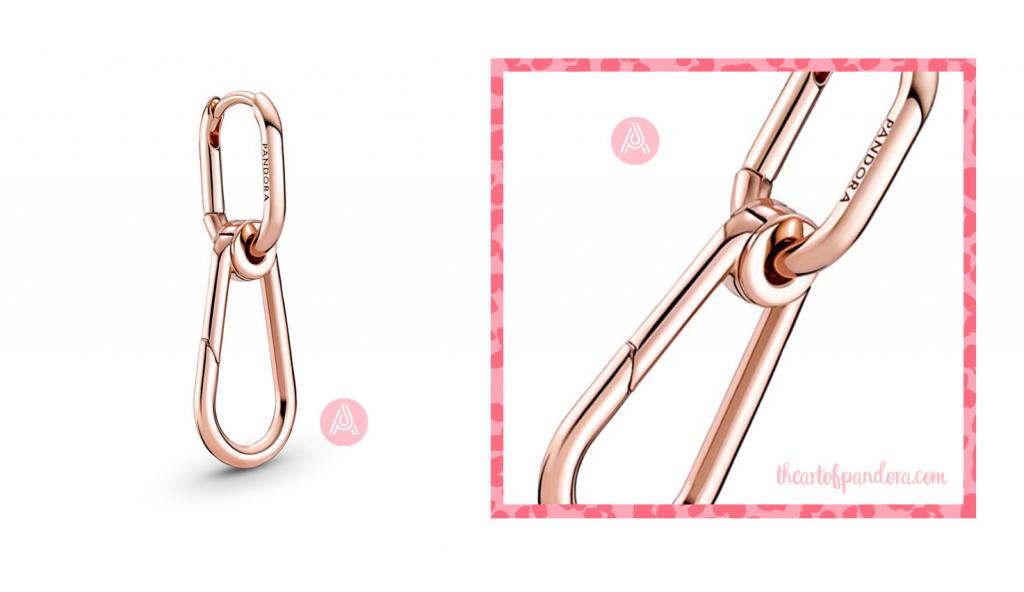 289664C00 pandora me hoop link earring