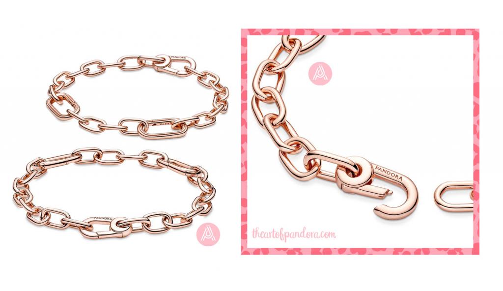 Pandora Me Rose Link Chain Bracelet  (589662C00)