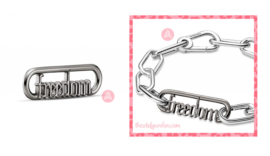 Pandora Me Styling Freedom Word Link  (749666C00)