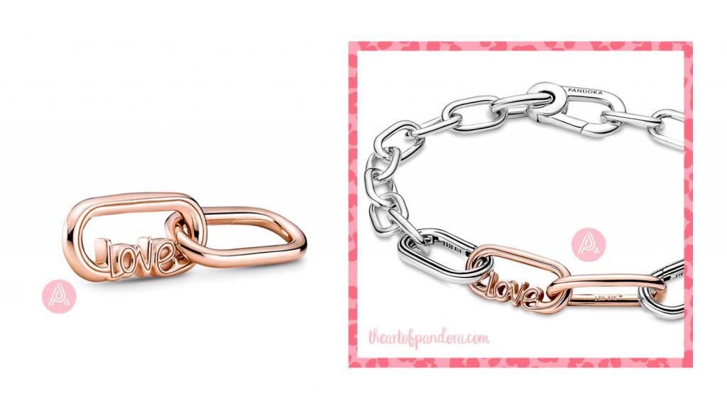 789686C00 Pandora Me Rose Styling Love Word Link