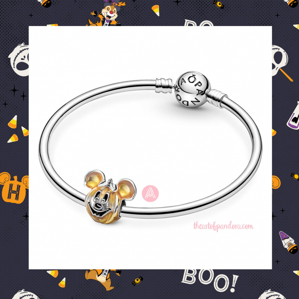 799599C01 Pandora Disney Mickey Mouse Pumpkin Charm