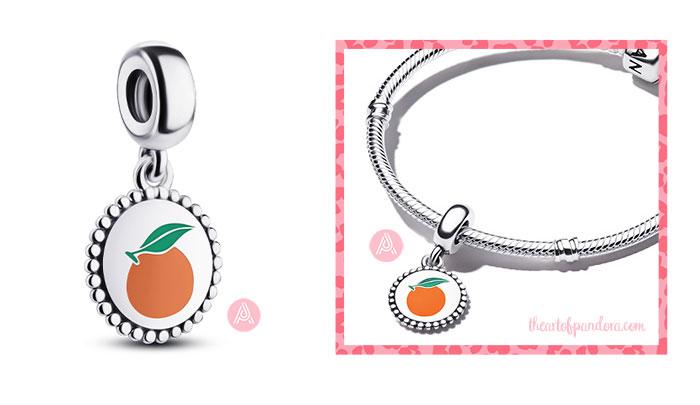 791169C00_E026 Pandora Orange-motif round pendant